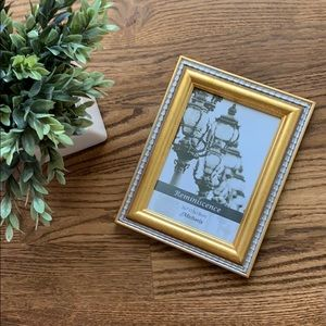 NWOT Gold and Silver Colored 5x7 Picture Frame